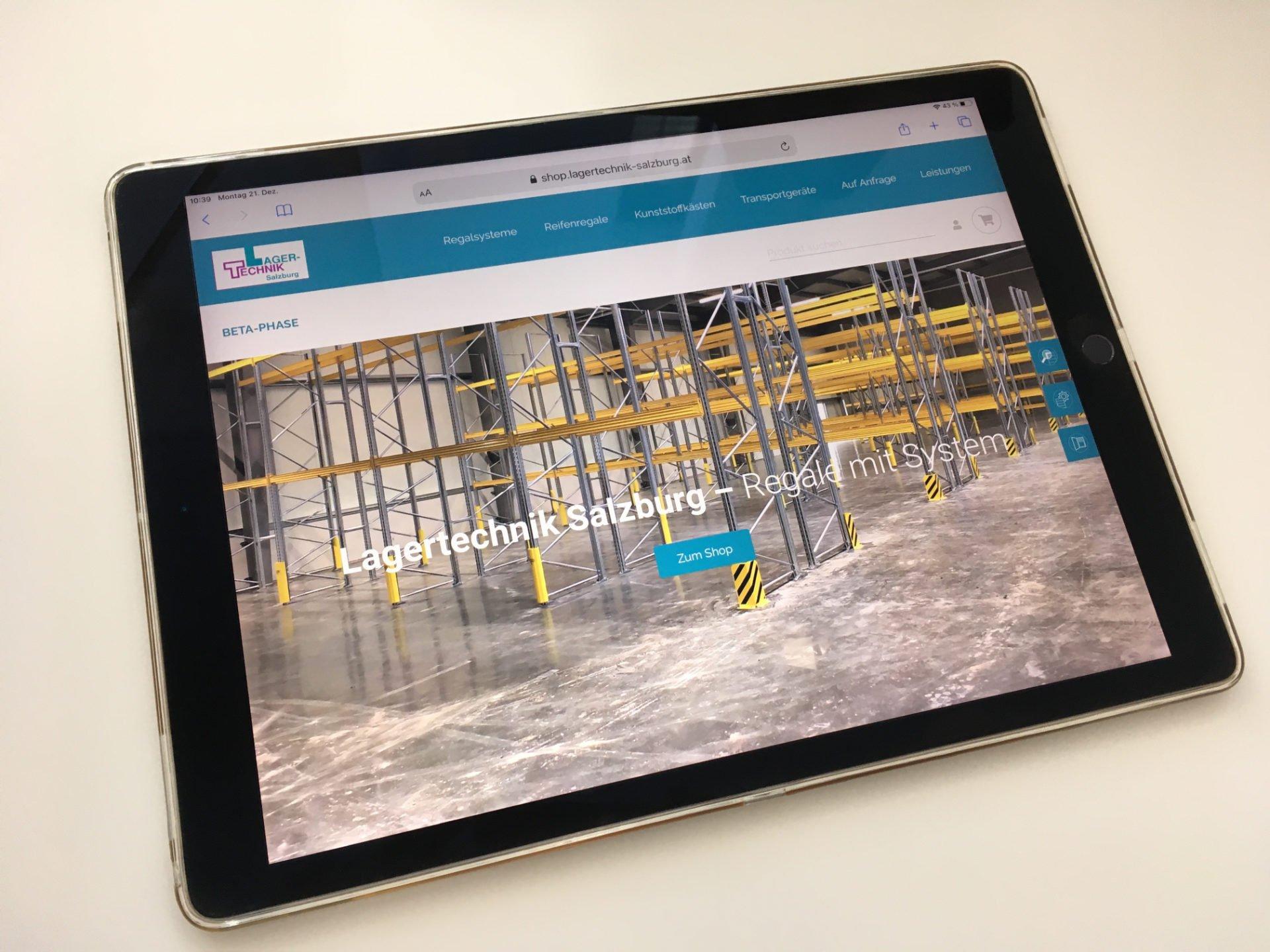 Website Lagertechnik Salzburg